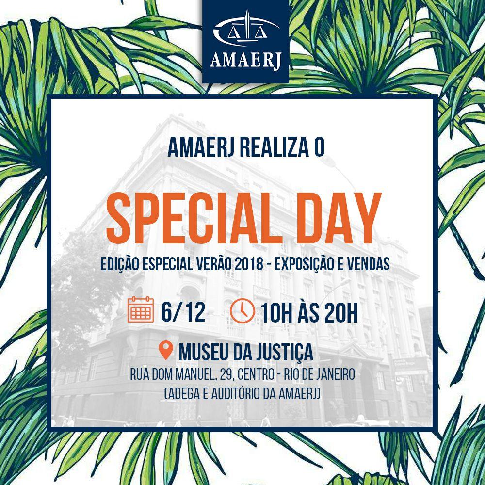 Special Day será amanhã, na sede da AMAERJ